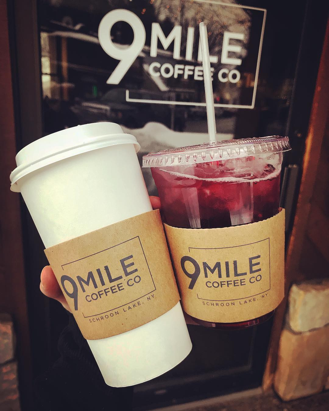 Some of the delicious drinks served up at 9 Mile Coffee Co.